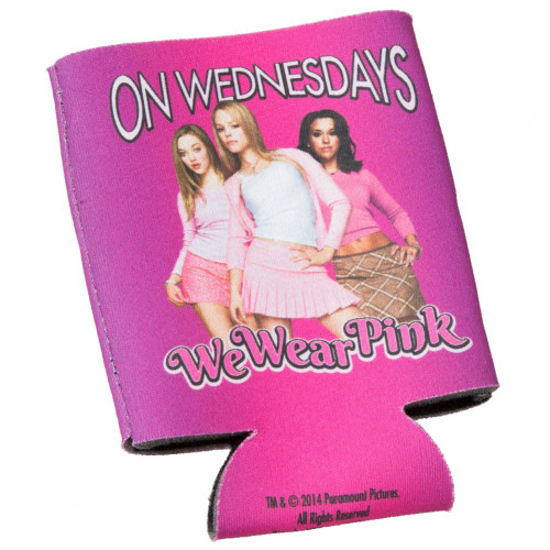Mean Girls On Wednesdays We Wear Pink Can Cooler