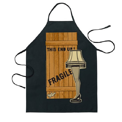 A Christmas Story Leg Lamp and Crate Apron