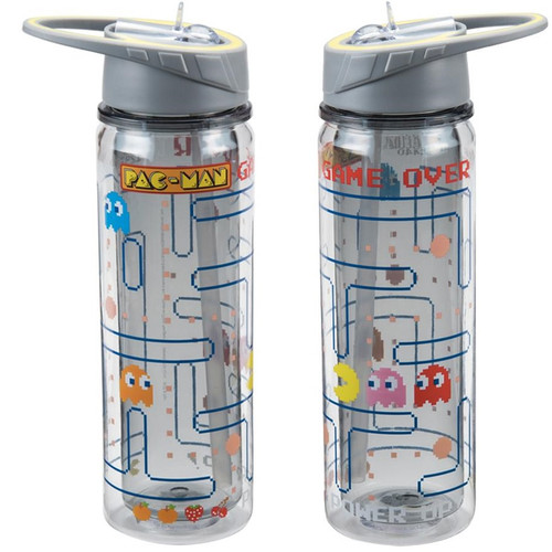 191d4c25a3 Pac-Man 18 oz. Tritan Water Bottle Front and Back View ...