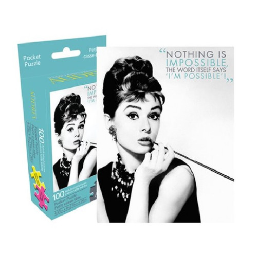 Audrey Hepburn 100 Piece Pocket Puzzle