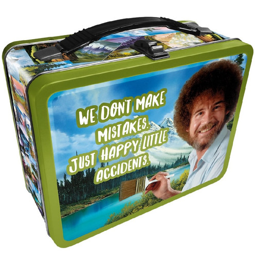 Bob Ross Happy Little Accidents Tin Tote