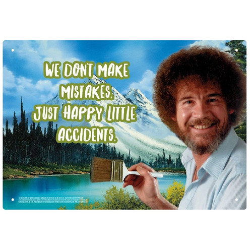 Bob Ross Happy Little Accidents Tin Signs