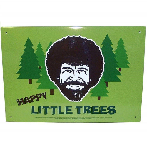 Bob Ross Happy Trees Tin Sign