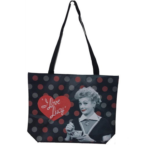 I Love Lucy Black and Red Tote Bag