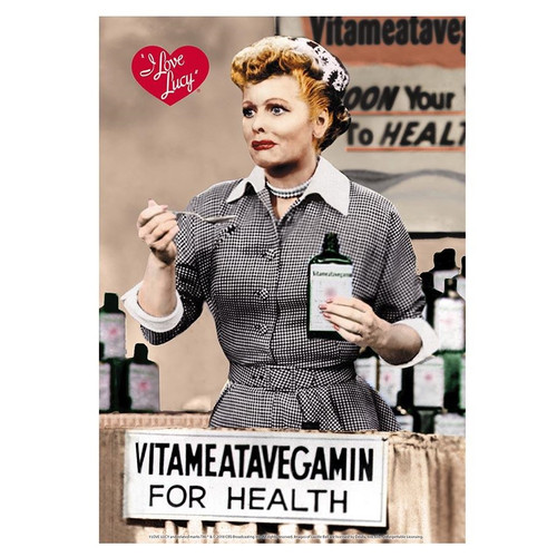 I Love Lucy Vitameatavegamin For Health Tin Sign