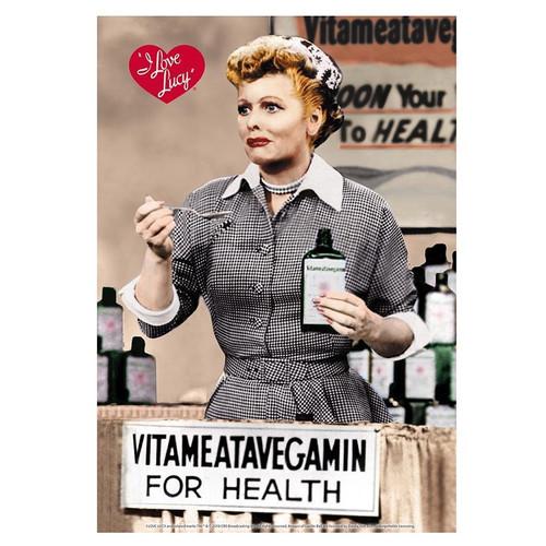 I Love Lucy Vitameatavegamin For Health Tin Sign