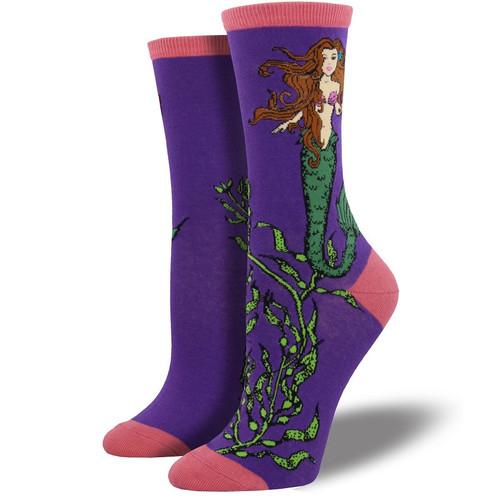Mermaid Women's Crew Socks by Socksmith Canada