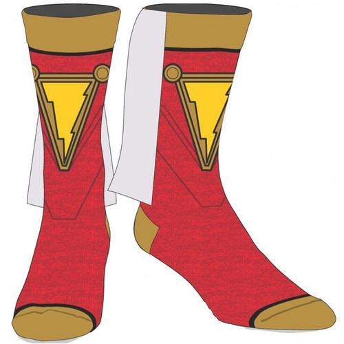 SHAZAM Crew Socks with Cape by Bioworld