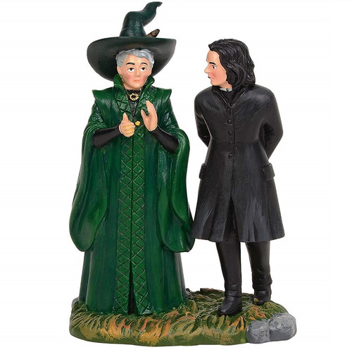 Snape and McGonagall Harry Potter Village by Department 56