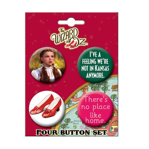 Wizard of Oz Buttons Set of Four
