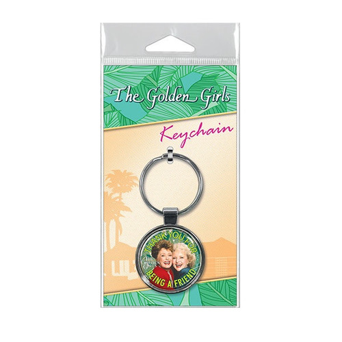 Thank You For Being a Friend Keychain