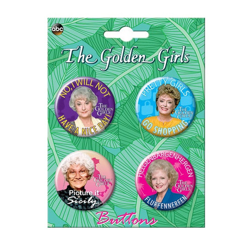 Golden Girls Button Set of Four