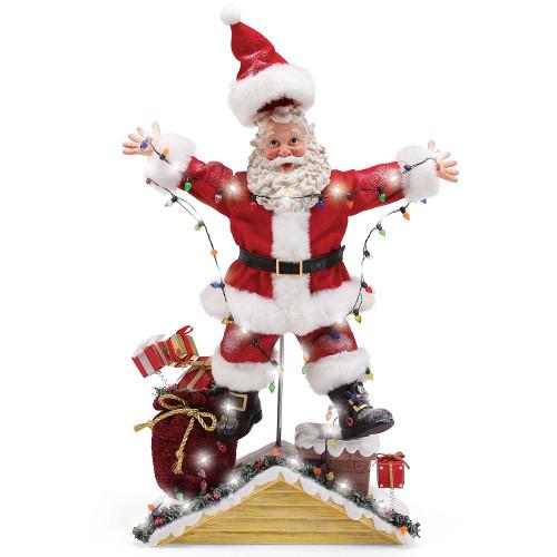 Christmas Vacation Electrocuted Santa Lit LED Figure