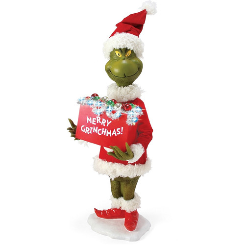 """Merry Grinchmas 30"""" Statue by Possible Dream"""