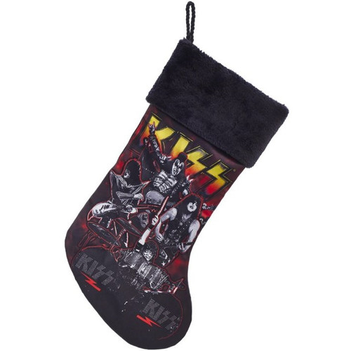 KISS Band Stocking with Fur Cuff