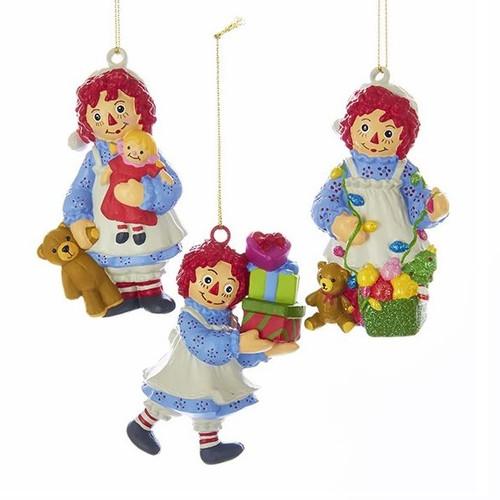 Raggedy Ann Blow Mold Ornaments