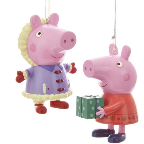 Peppa Pig in Winter Blow Mold Ornament