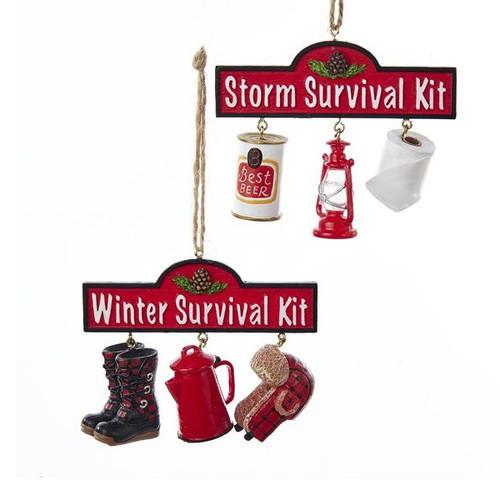 Winter Survival Kit and Storm Survival Kit Ornaments