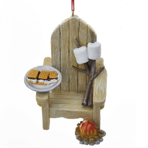 Adirondack Chair and S'mores Personalized Ornament