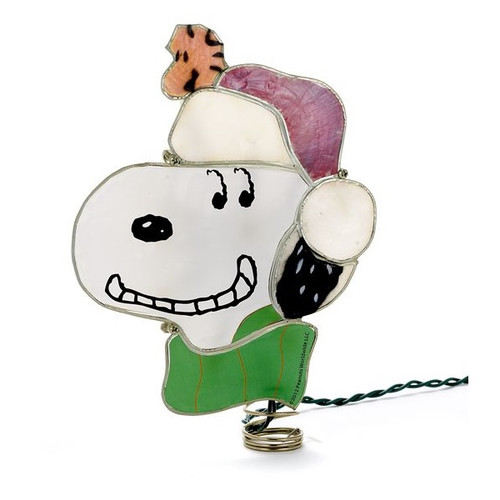 Snoopy Lighted Tree Topper