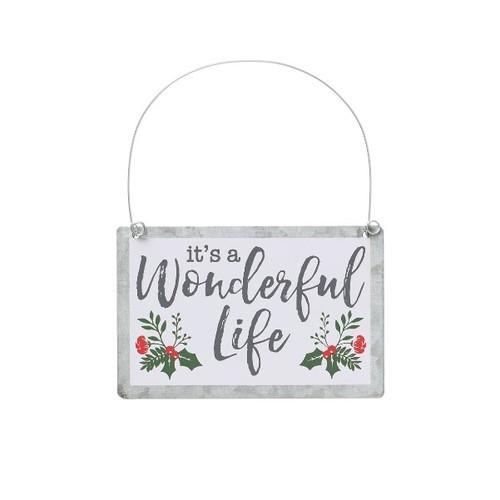 It's a Wonderful Life Sign Ornament