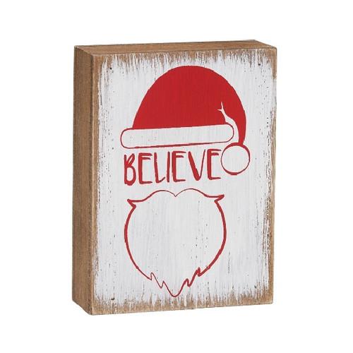 Believe Santa Block Sign