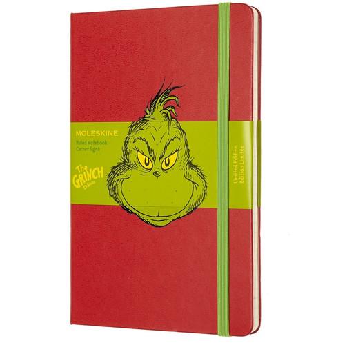 Grinch Red Moleskin Notebook