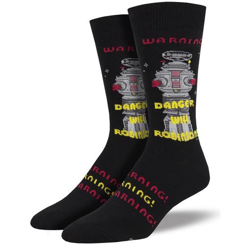 Danger Will Robinson Men's Crew Socks