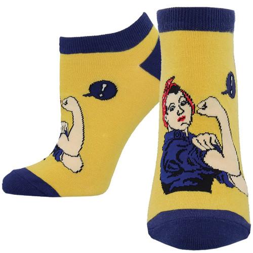 Rosie the Riveter Women's Ped Socks