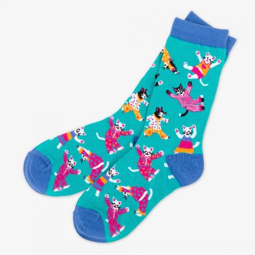 Pajama Cats Women's Crew Socks by Hatley