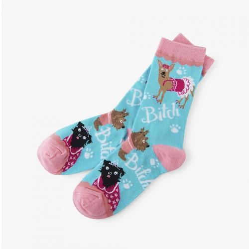 Bitch Bitch Bitch Women's Crew Socks by Hatley