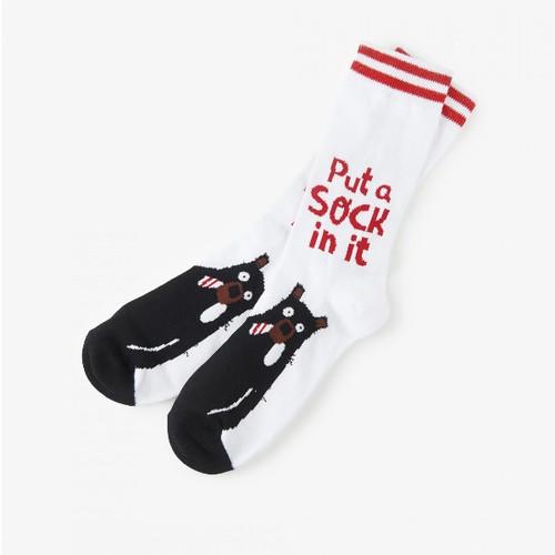 Put A Sock In It Men's Crew Socks by Hatley