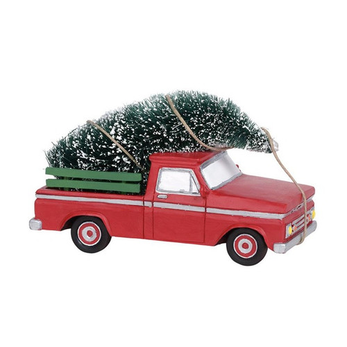 Here Comes Christmas Pickup Truck With Tree Department 56 Village Accessory