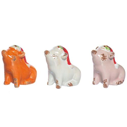 Vintage Ceramic Pigs (SET of 3)