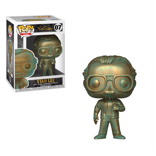 Stan Lee, Patina POP! Icons Vinyl Figure by Funko, with box 40744