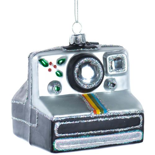 Polaroid Camera Glass Ornament