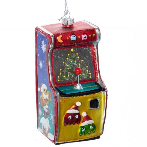 Pac-Man Arcade Game Glass Ornament