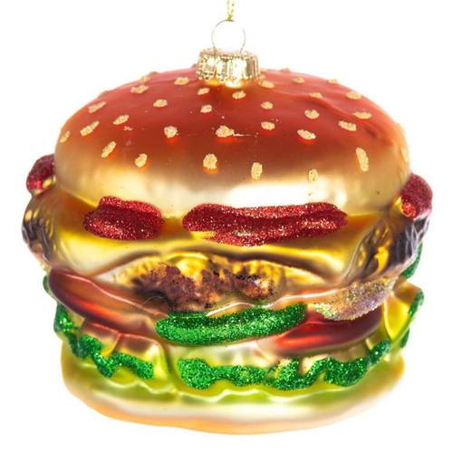 Hamburger Glass Ornament