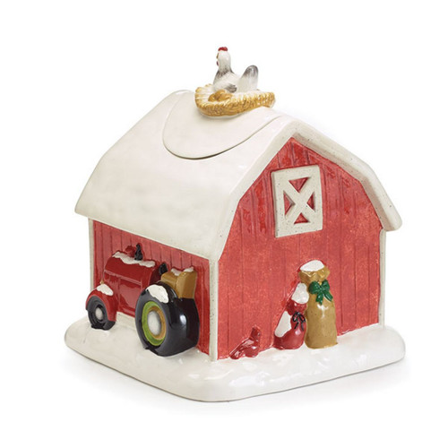 Red Barn Cookie Jar