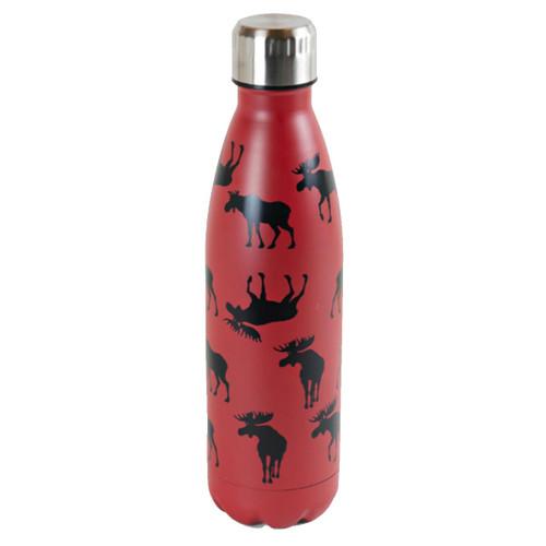 Moose on Red Travel Bottle