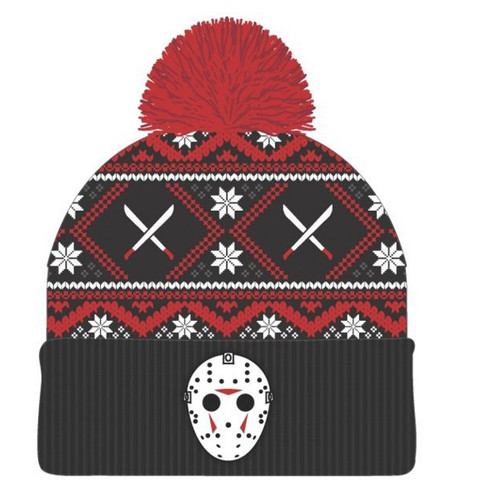 Friday the 13th Embroidery Toque with Pom Pom