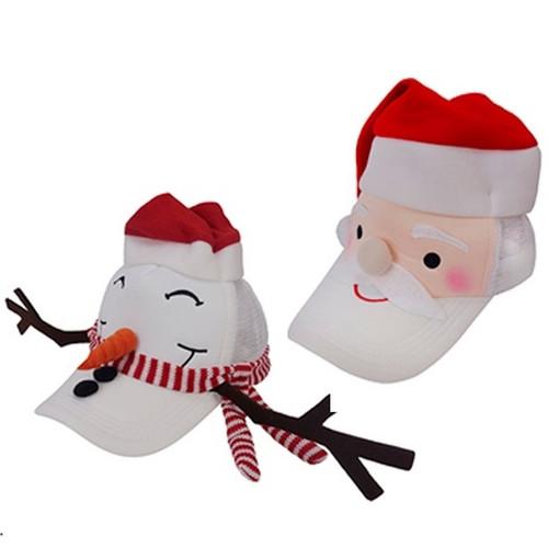 Santa and Snowman Baseball Caps