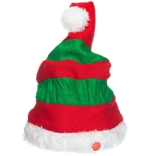 Singing Rocking Elf Animated Hat