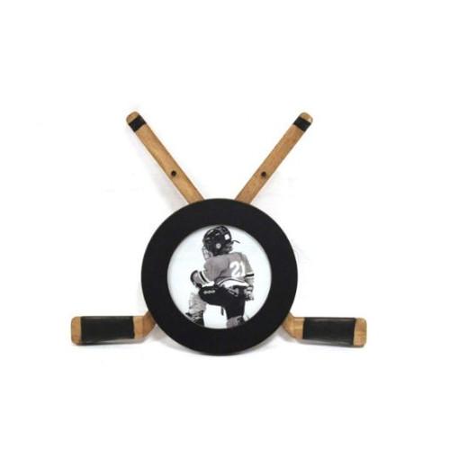 Round Hockey Frame with Two Sticks