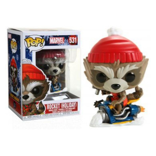 Holiday Marvel Rocket Raccoon, POP!