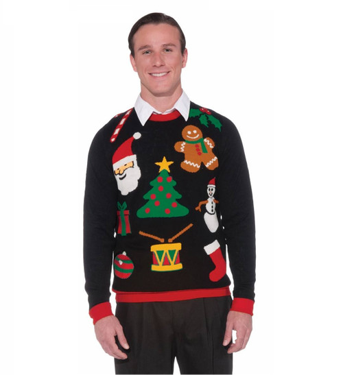 Classic Christmas Icons Ugly Sweater