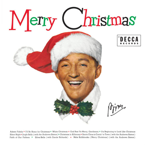Bing Crosby Merry Christmas Record, front