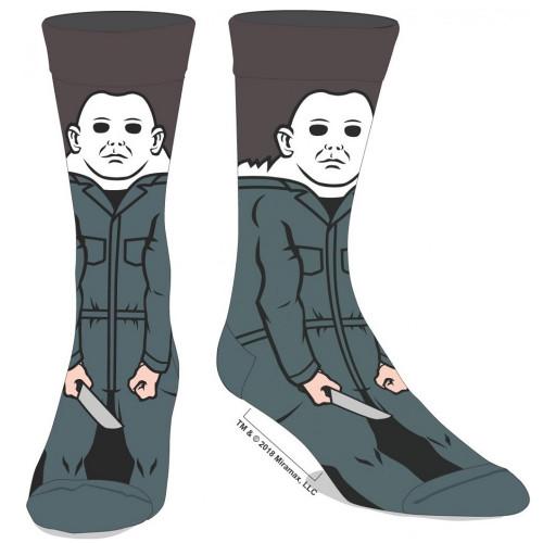 Halloween Michael Myers 360 Image Crew Socks