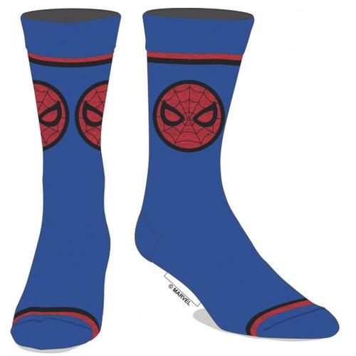 Spider-Man Emblem Blue Crew Socks by Bioworld