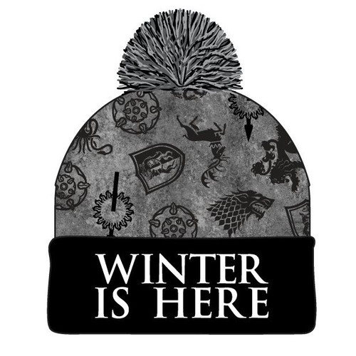 Winter is Here Game of Thrones Toque with Pom Pom